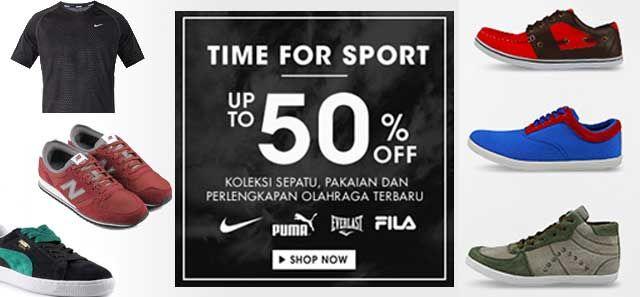 Koleksi Sepatu Pakaian Dan Perlengkapan Olahraga Terbaru Disc 50
