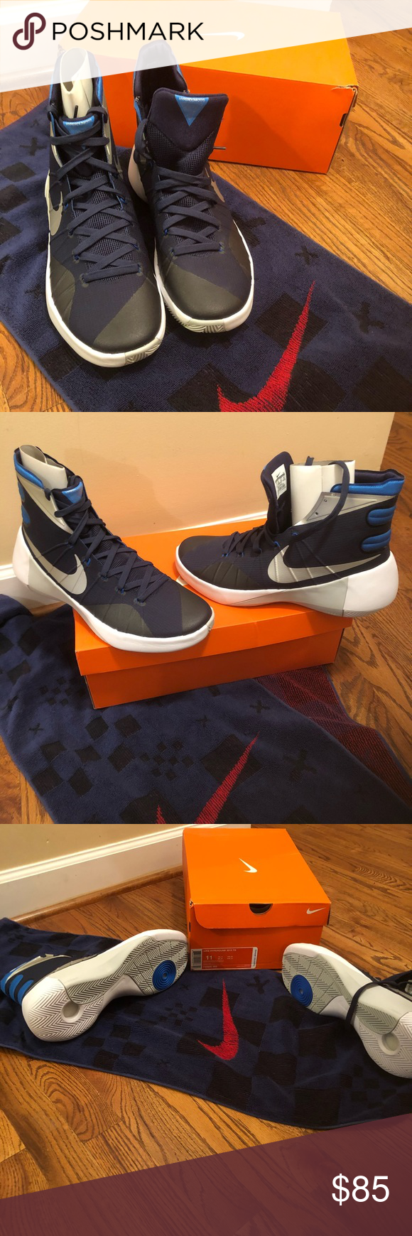 a98eed90ddd5 Nike Hyperdunk 2015 TB Men s Basketball Shoes Navy Blue basketball shoe  hyper fuse rubber sole. Light weight. Great for serious basketball players.  Nike ...