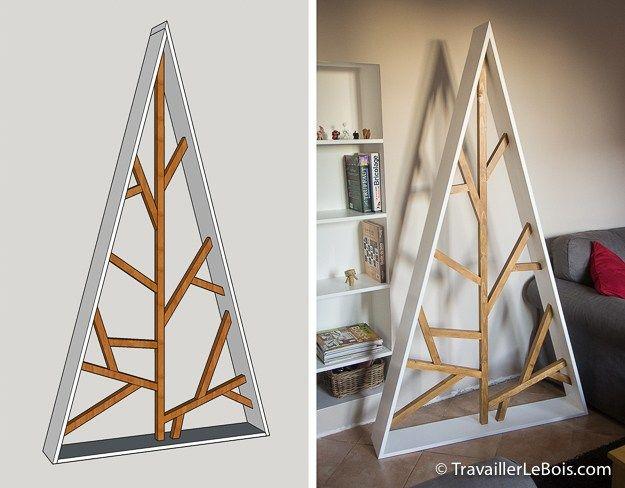 sapin de no l en bois design bricolage sapin noel bois. Black Bedroom Furniture Sets. Home Design Ideas