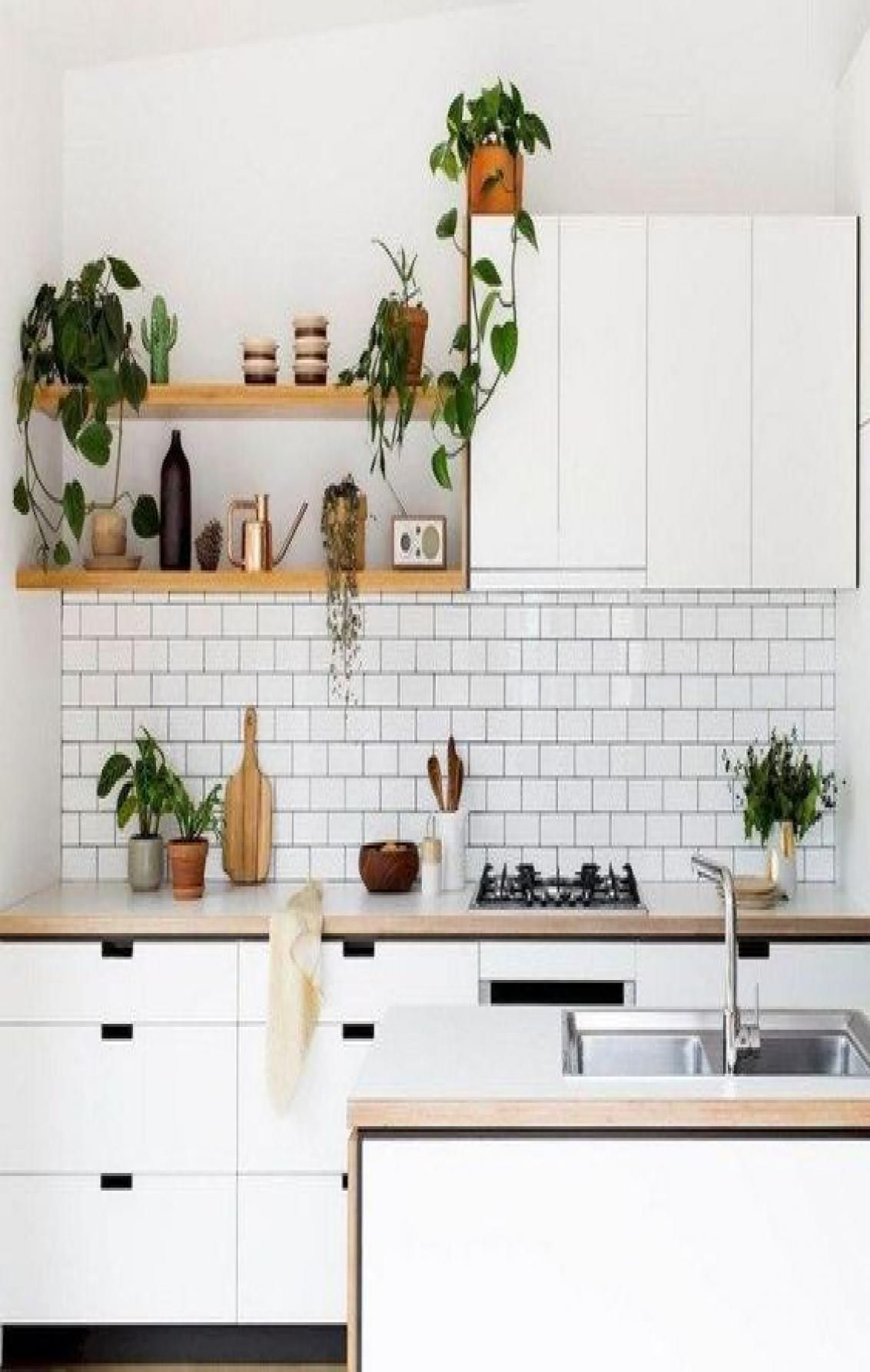 46 Chic Modern Farmhouse Kitchen Decor Ideas In 2020 Scandinavian Kitchen Scandinavian Interior Kitchen Minimalist Kitchen Design