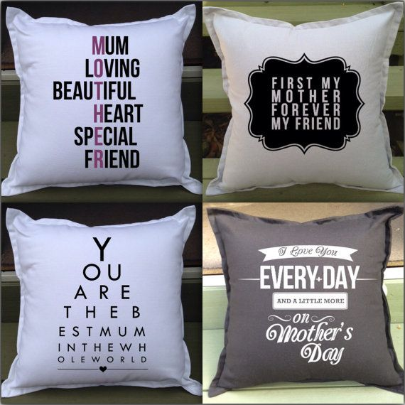 HUGE selection of Mother's Day Gift Pillows - customise ...