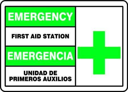 Accuform Sbmfsd926Vp Spanish-Bilingual First Aid Sign