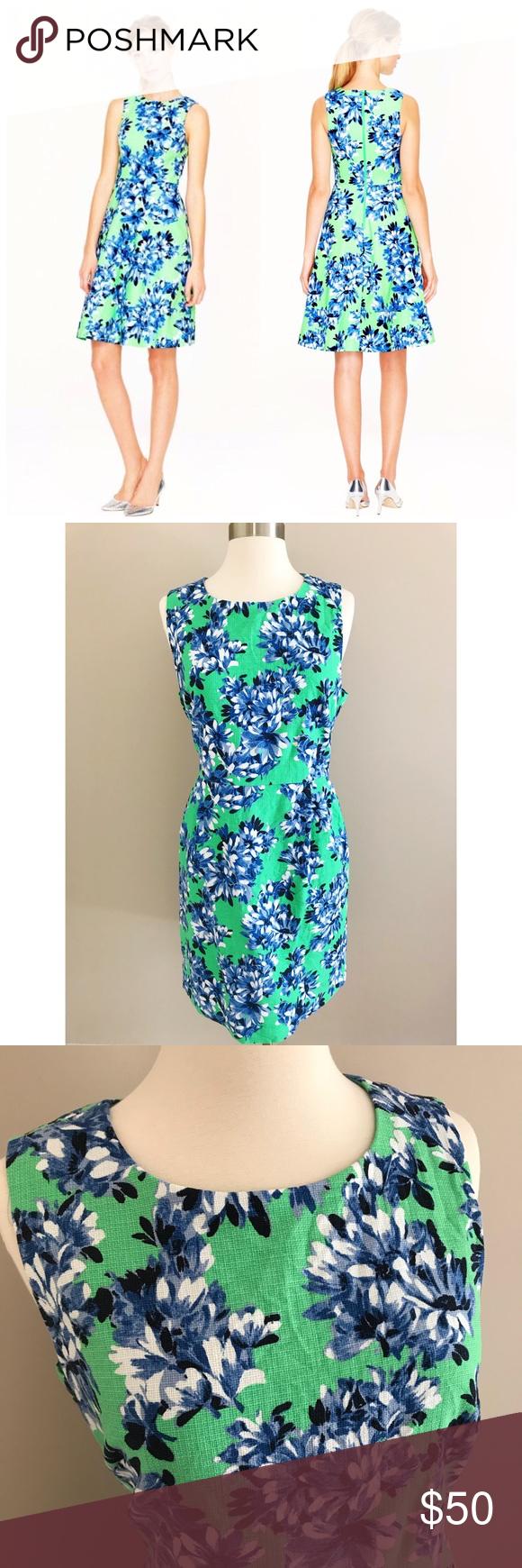 J. Crew Factory• Photo Dress Floral Sheath Cotton