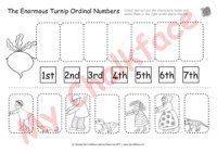 The Enormous Turnip Ordinal Numbers (Numeracy) | Kinder reading ... on Gigantic Turnip Sequencing Worksheets