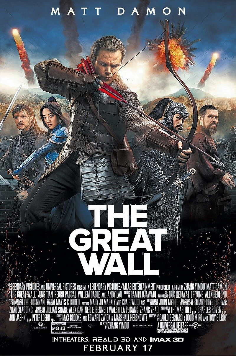 The Great Wall Film Movie Fantasy Movies Movie Posters