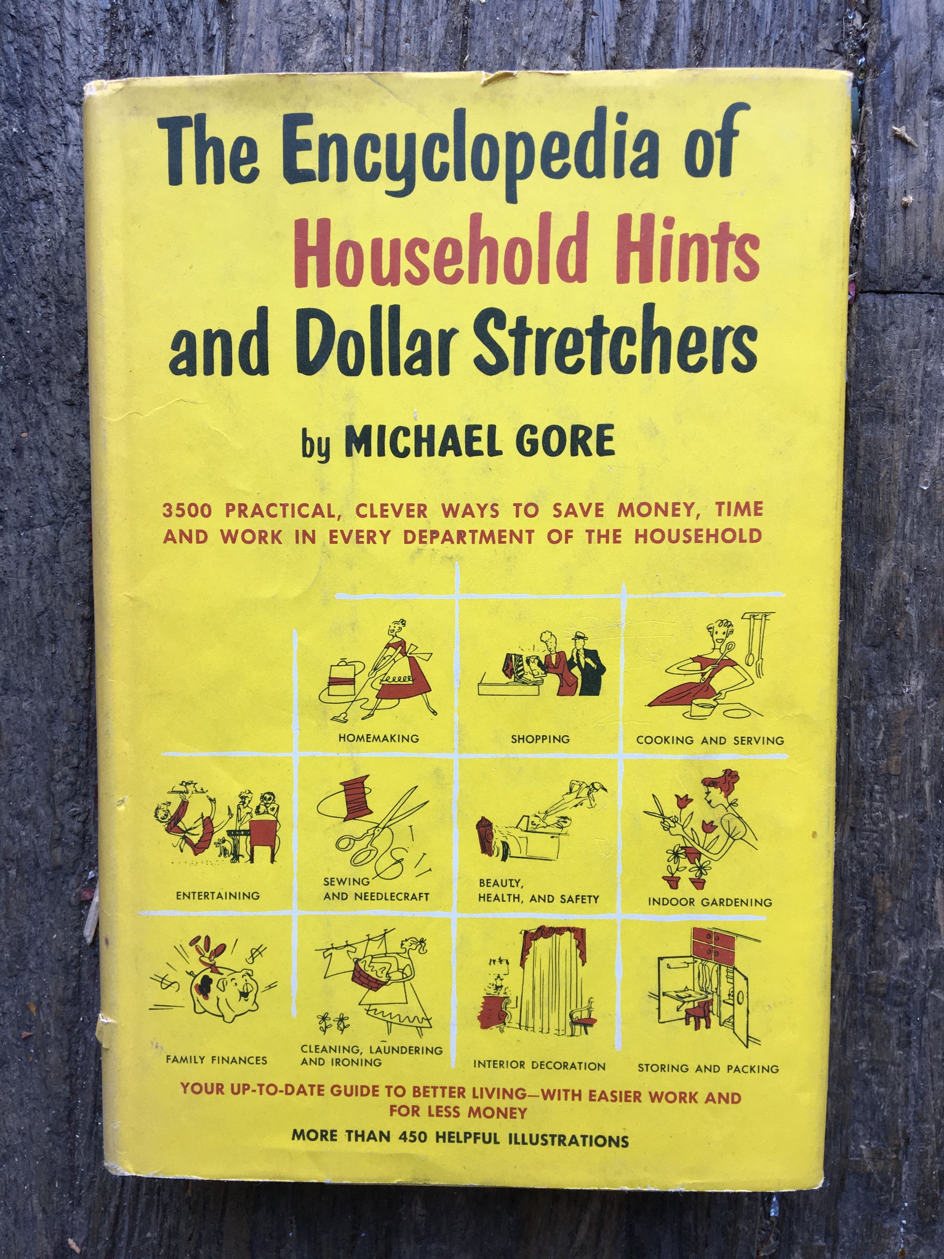 The Encyclopedia of Household Hints and Dollar Stretchers by Michael Gore #cookingandhouseholdhints