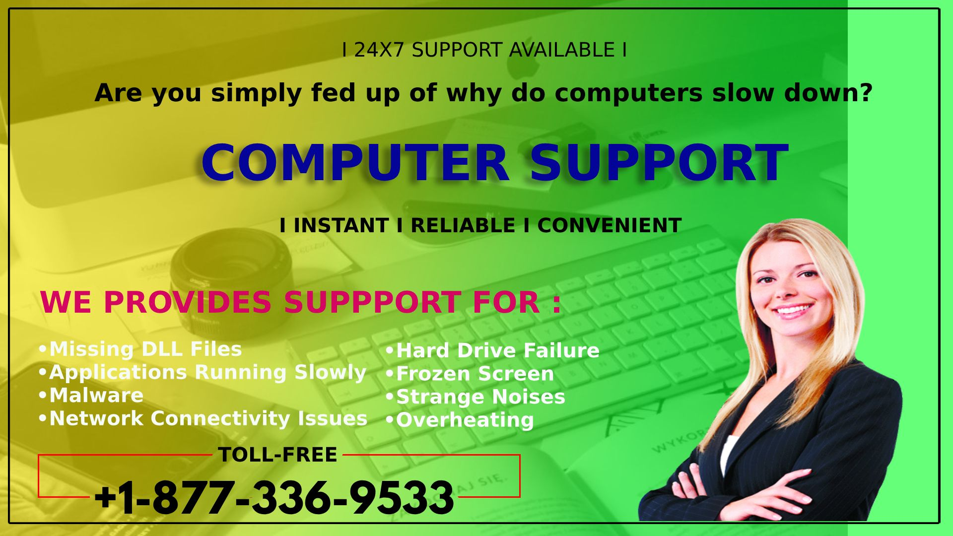 Computer technical support number 18773369533 for slow