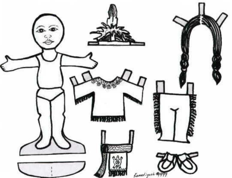Indian Paper Doll with Clothing. Wolf Cub Elective 10