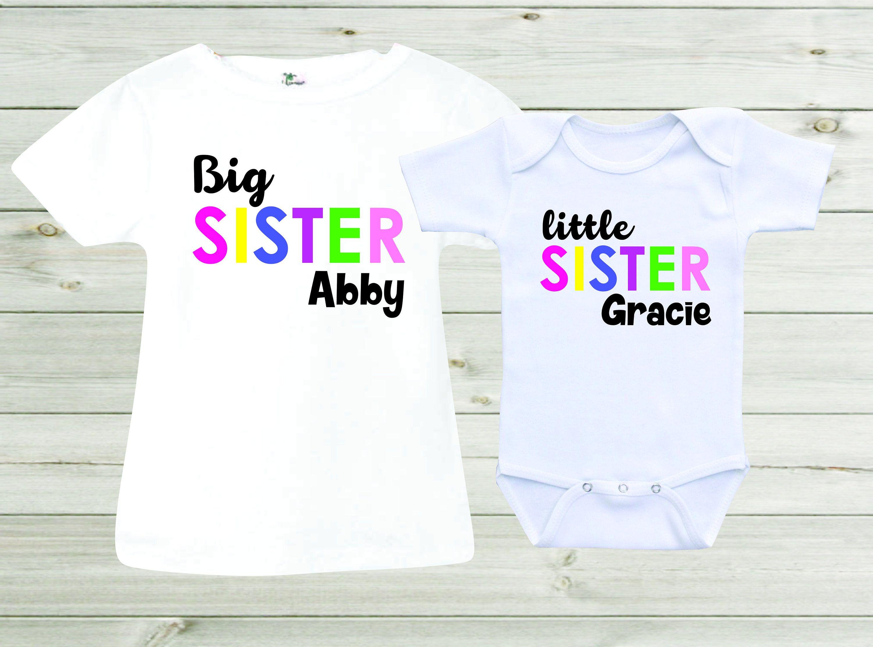 Big Sister Little Sister Shirts Matching Shirts Girls Outfits Baby