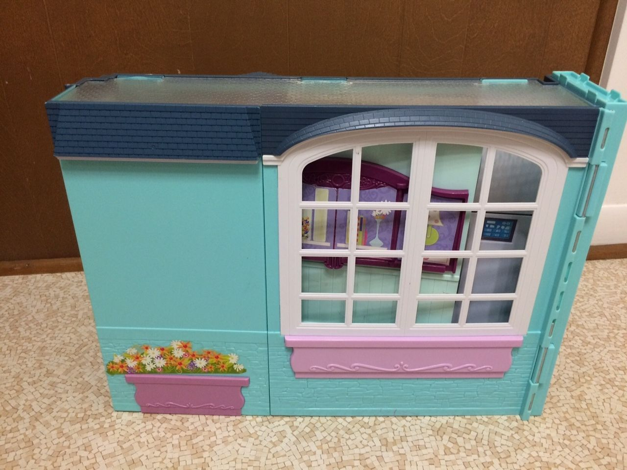 2007 Barbie Doll My House Playset Fold Up Dollhouse Kitchen Bathroom ...