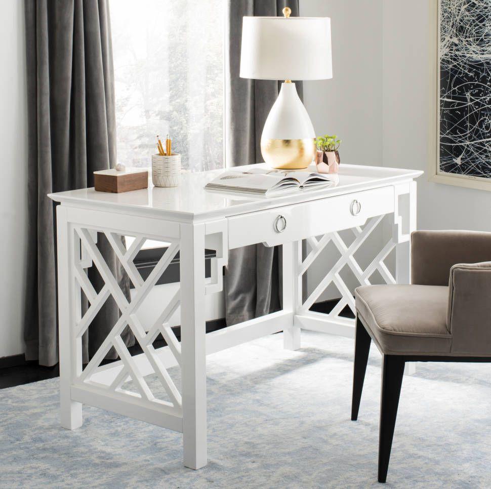 Elegant Fashion White desk bedroom, Home office