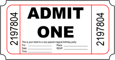 Marvelous My Sweet Savannah: Birthay Ticket Invites Intended For Admit One Ticket Template