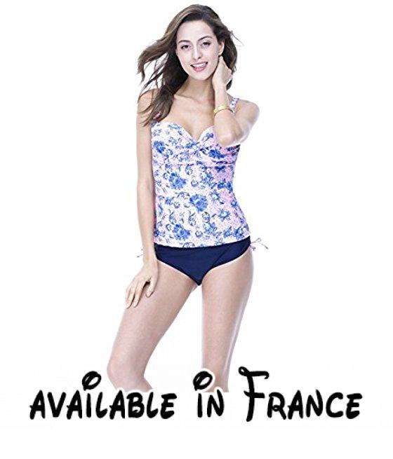 Thatch Maillot de bain pour femme Bikinis Maillots deux pièces Fashion Sexy,Pink,50