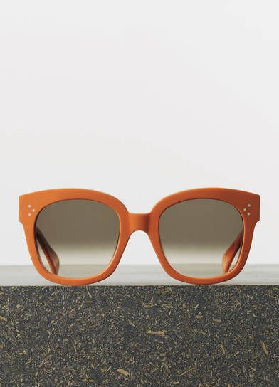 b6973026eeef Céline New Audrey Sunglasses in Orange Acetate with Brown Shaded Lenses