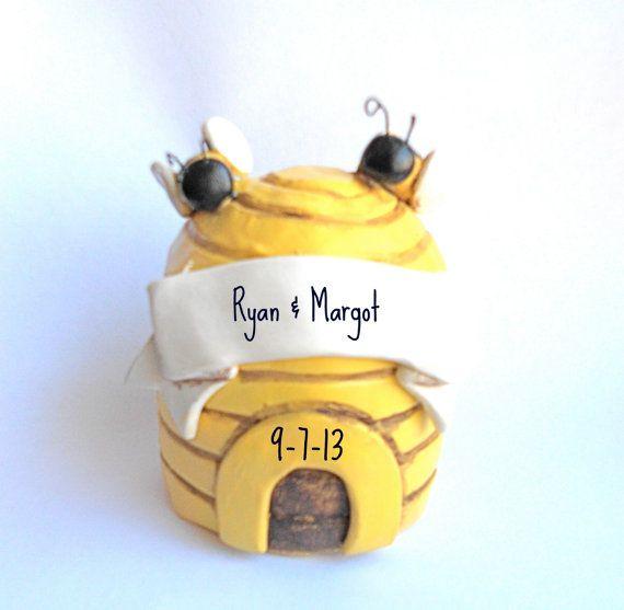 Sweet Honey Bee Wedding Cake Topper For Your By Indigotwinweddings 40 00 Keywords Honeybeeweddings