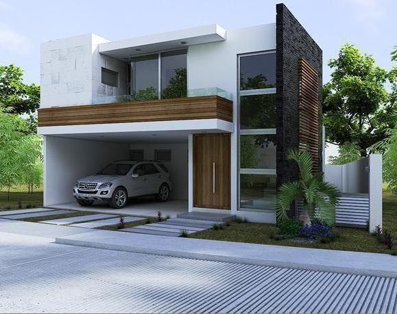 Imagenes de modernas salas con doble altura buscar con for Casas minimalistas fotos fachadas