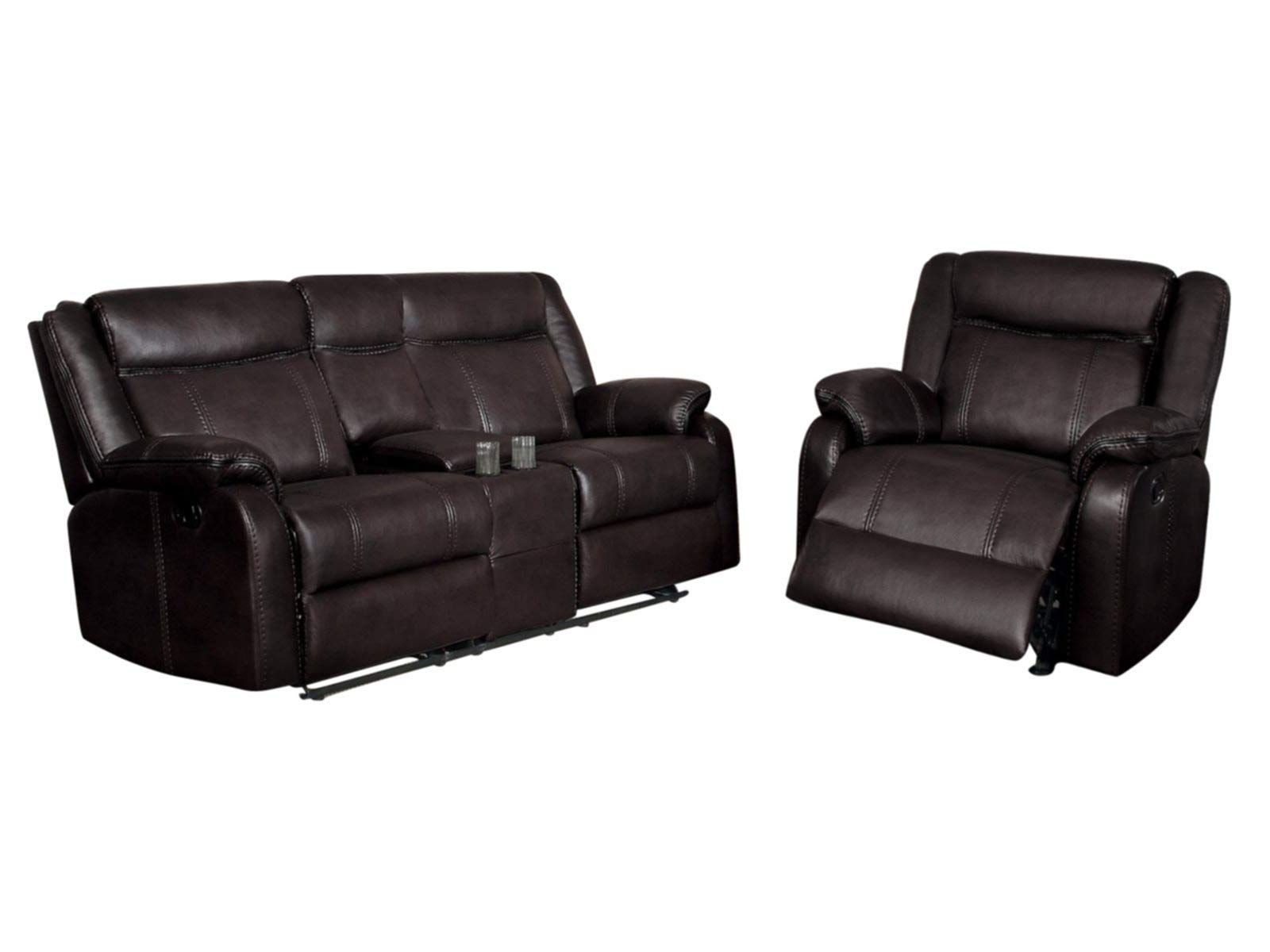 Admirable Jakes 2Pc Double Glider Reclining Console Love Seat And Frankydiablos Diy Chair Ideas Frankydiabloscom