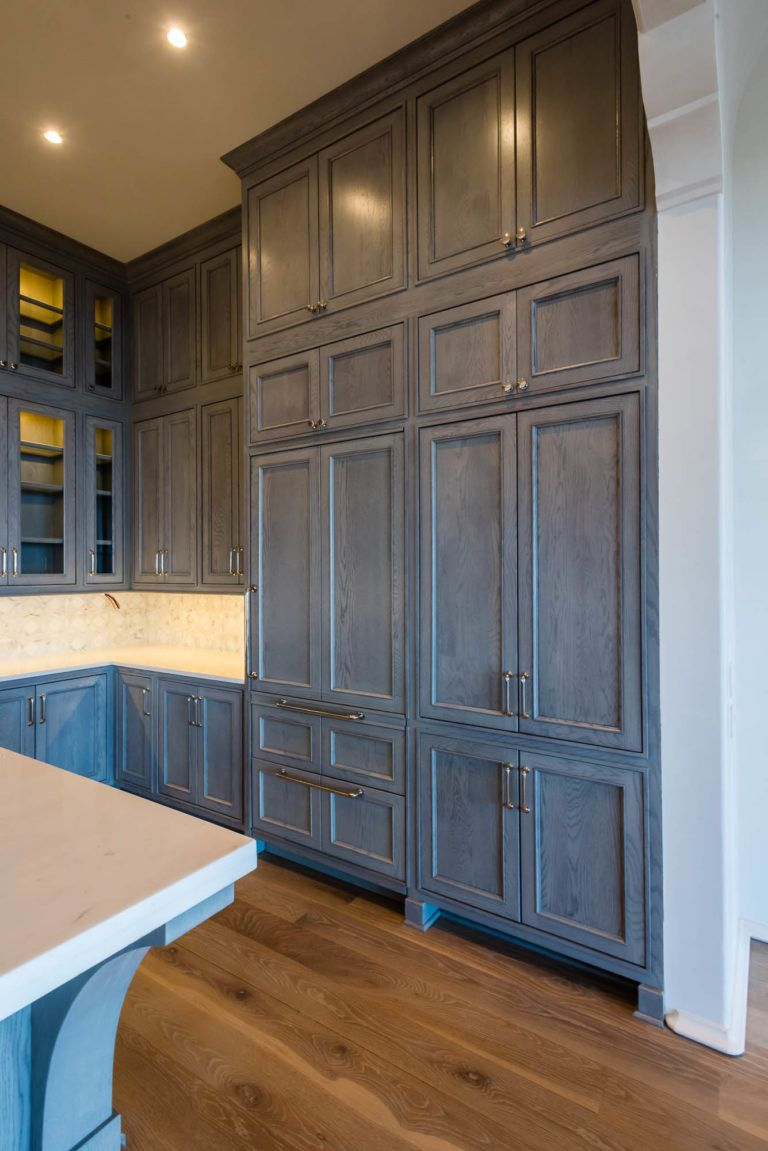 Grey Stained Cabinets Vs Painted