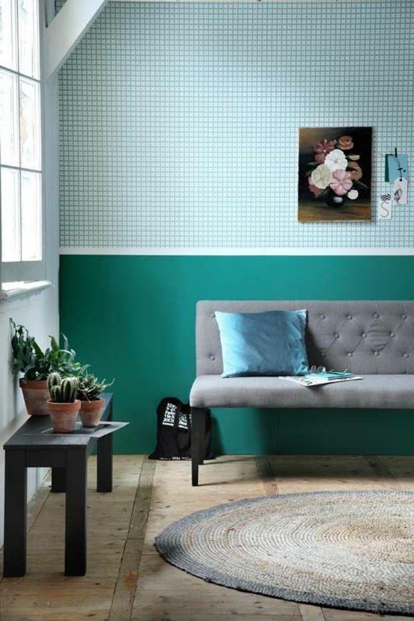 farbgestaltung im wohnzimmer wandfarben ausw hlen und. Black Bedroom Furniture Sets. Home Design Ideas
