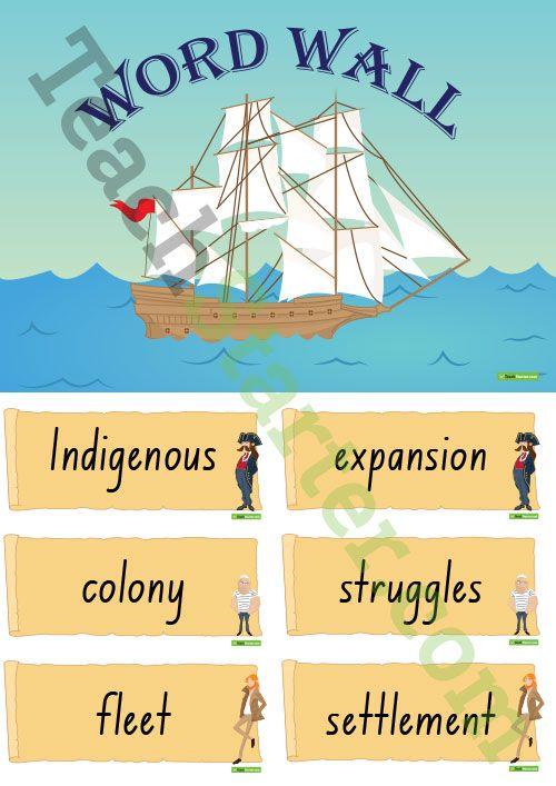 British Colonisation of Australia - Word Wall Teaching Resource ...