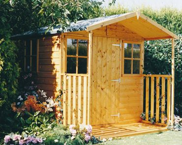 casita wooden garden shed with veranda 7ft x 9ft - Garden Sheds With Veranda