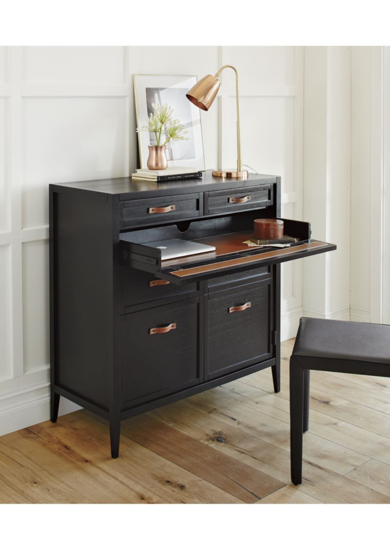 Newman Compact Office Desk Crate And Barrel Modern Home Office