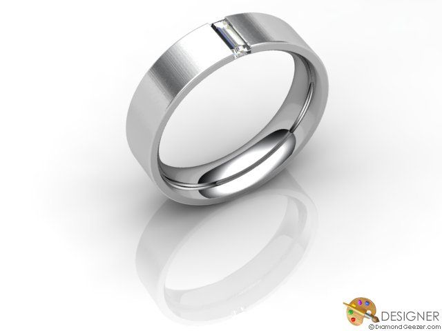 Gay Mens Wedding Ring Designer Diamond Flatcourt comfort Fit