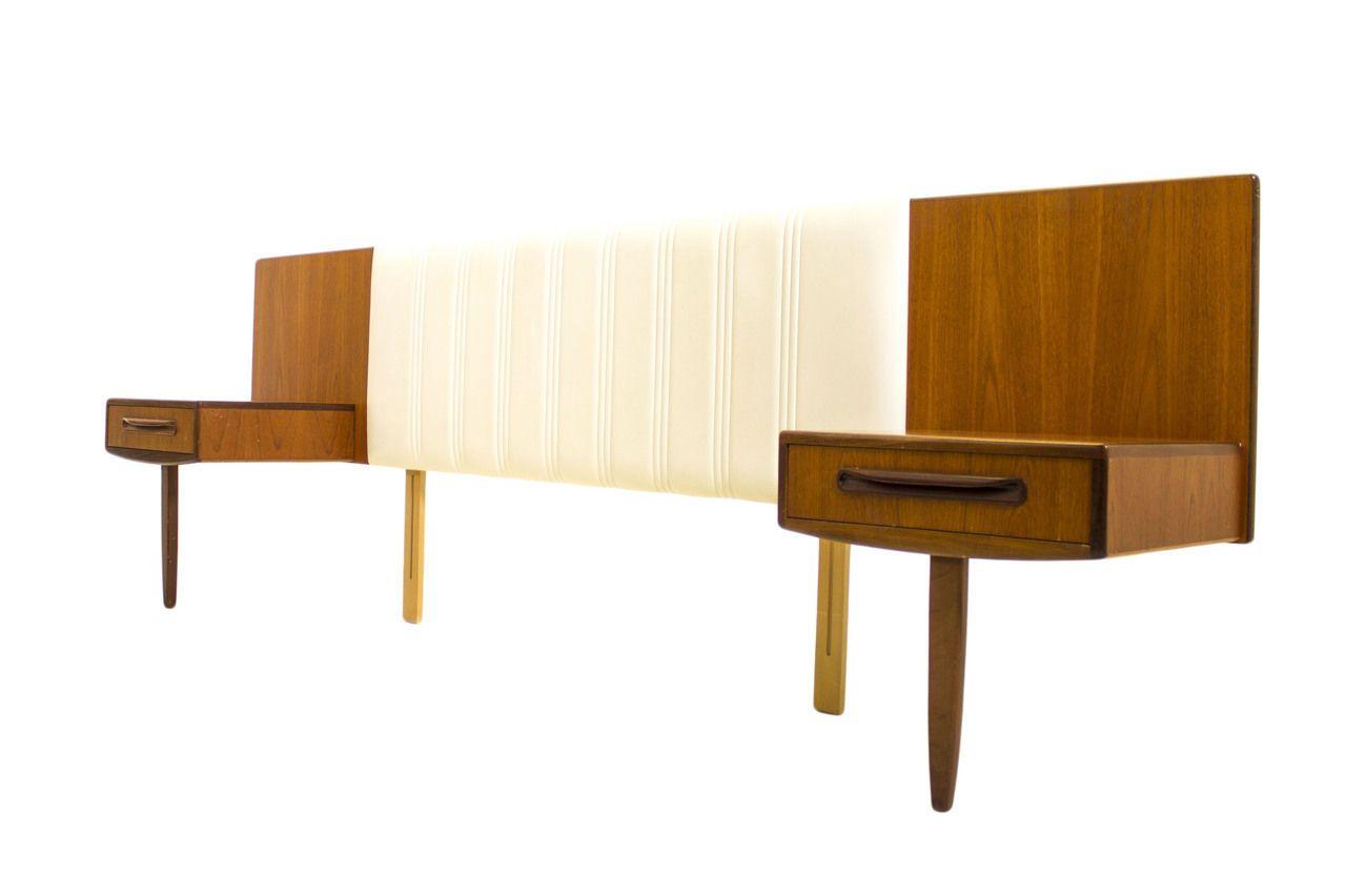 Danish style Floating Nightstands,Teak Headboard,Mid Century modern bedroom,MCM in Antiques, Furniture, Beds & Bedroom Sets, Post-1950 | eBay