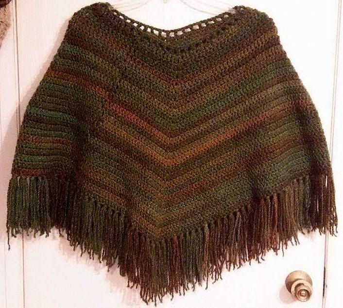 Gorgeous Handmade Crochet Super Soft and Thick Luxury Poncho One Size Fits ALL! by SunshinesThreads on Etsy