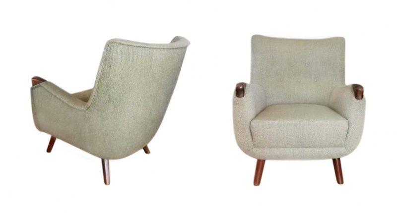 Vintage Deens jaren 50 fauteuil papabear