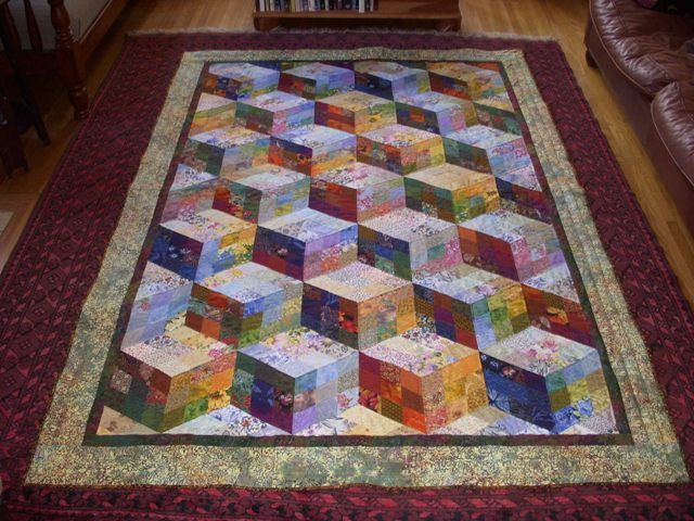Piecing the past quilts mini tumbling nine-patch quilt pattern.