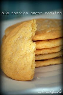 This old fashion sugar cookie calls for a touch of fresh lemon juice, making all the difference.  #baking #cookies