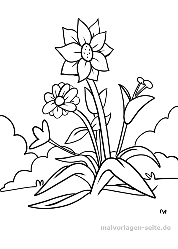 Blumen Malvorlagen Kostenlos Zum Ausdrucken