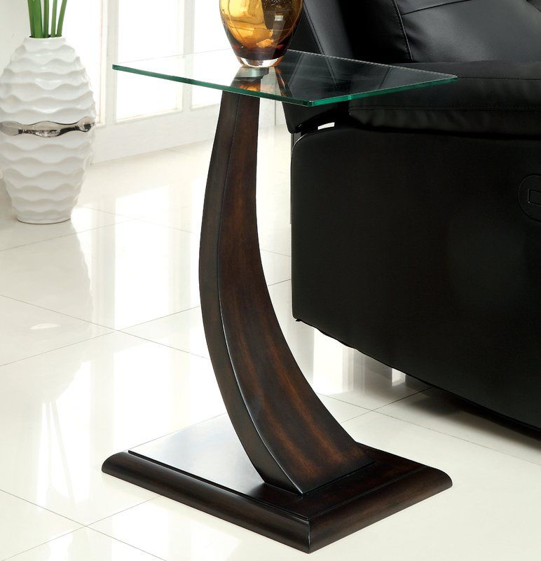 Wish To Chaim End Table By Zipcode Design Glass Top Side Table