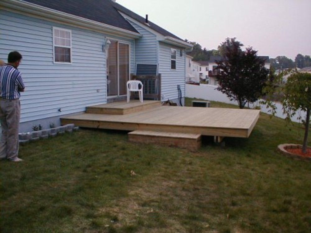 Charmant Hereu0027s A Simple Backyard Floating Deck.