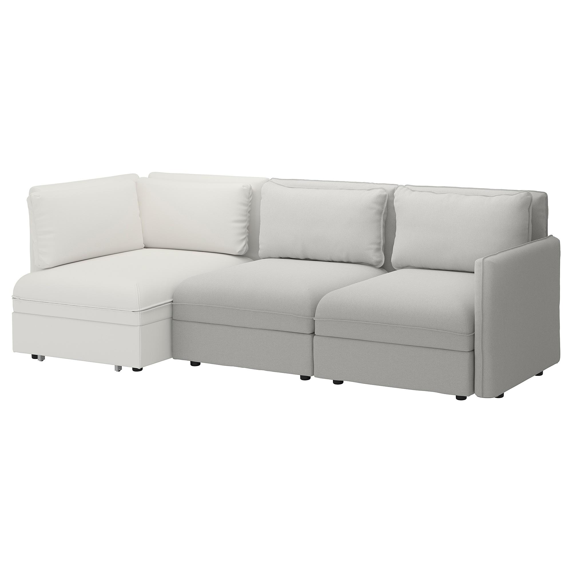 Vallentuna 3 Seat Modular Sleeper Sofa And Storage Orrsta Murum Light Gray White Modular Corner Sofa Sofa Sleeper Sofa