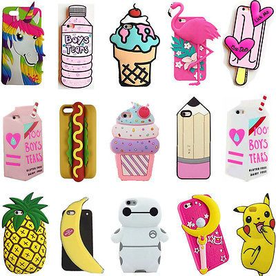 Trendy 3D Cartoon Back Cover Soft Silicone Case For Apple iPhone 7 ...