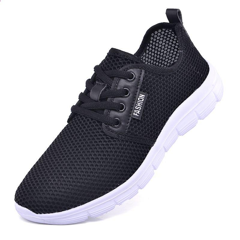 8197a83bbb 2018 Nowe letnie damskie lekkie trampki Oddychające siatkowe kobiece buty  do biegania Męskie tenisówki Walking Outdoor