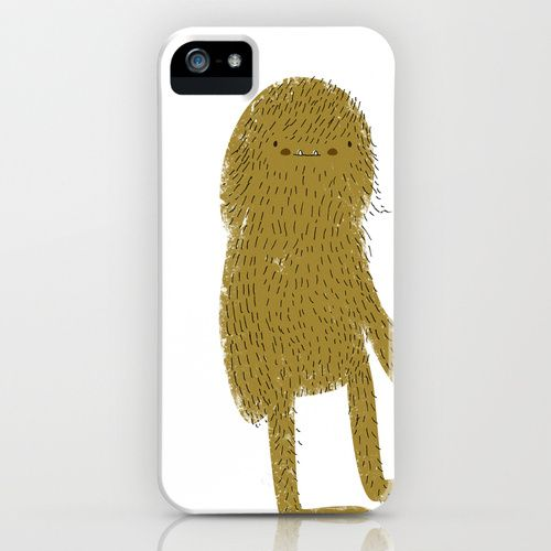 Sasquatch man iPhone Case by Lori Joy Smith.