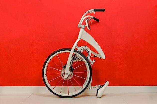 Ideales Stadtrad: Faltbares Gi Bike mit integrierter Stauwarnung