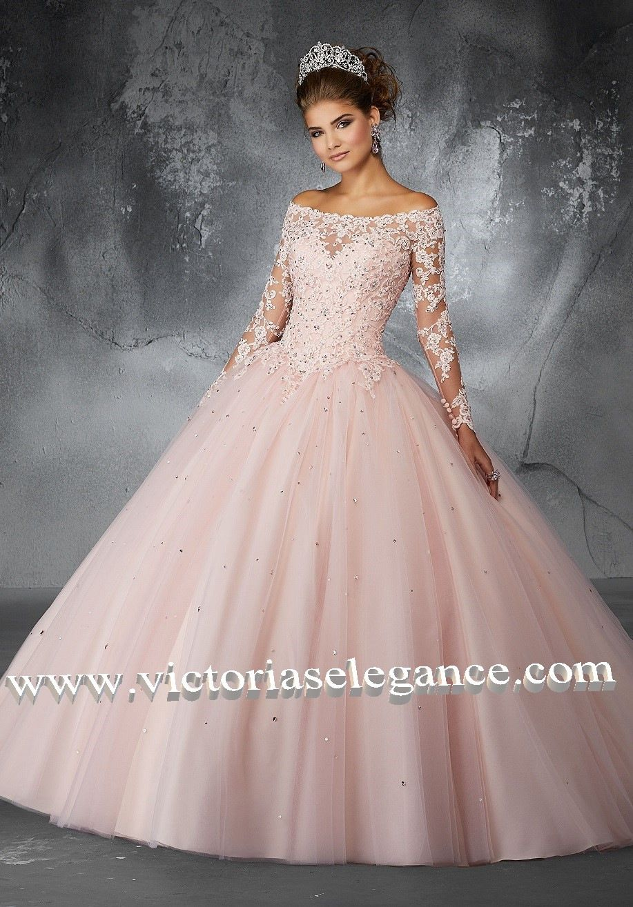 a75076d06ef Beaded Lace Appliqués on a Tulle Ballgown Skirt ML 60052 ...