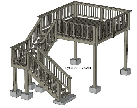 how to build a set of stairs with a landing