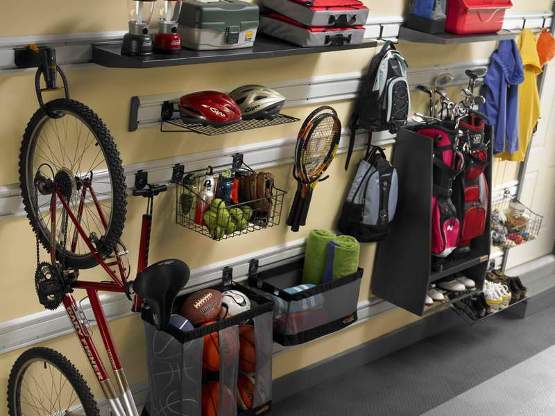 well organized sport equipment gladiator garage works - Gladiator Shelving