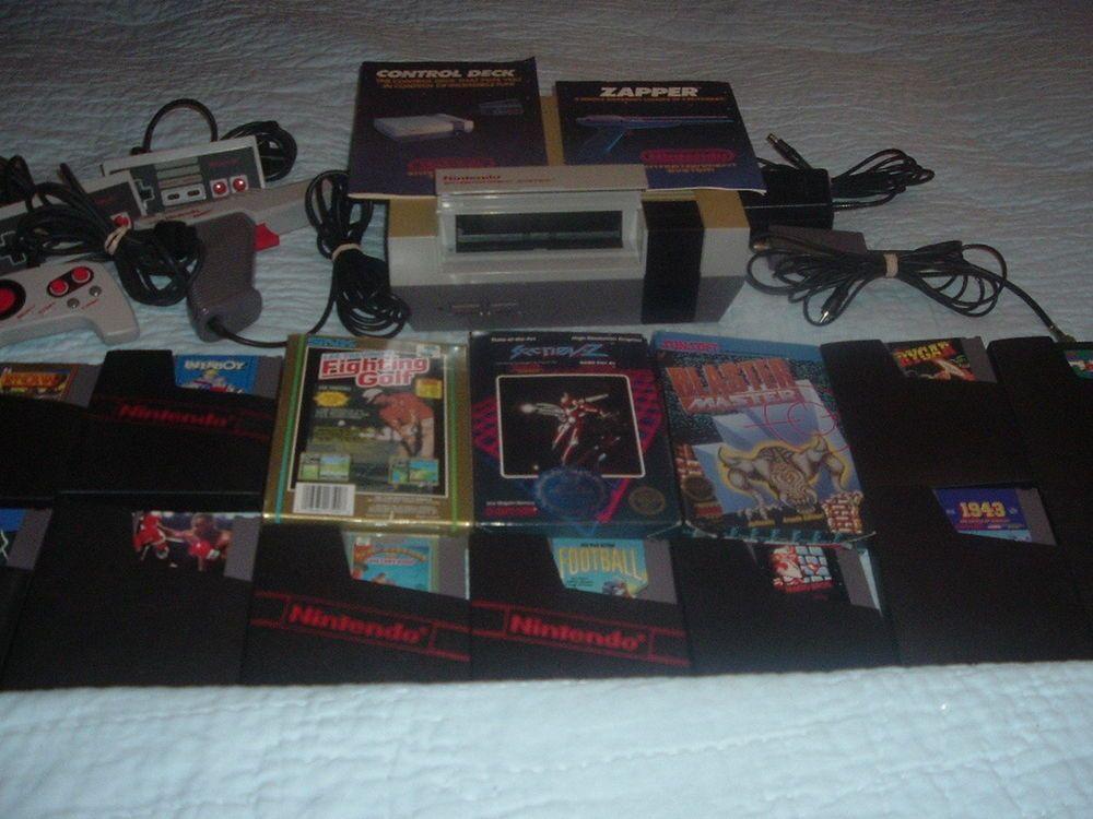 Nintendo Nes Bundled System;Nes Console,Nes Zapper Gun,14 NES Video Games,A/C. #NintendoNes