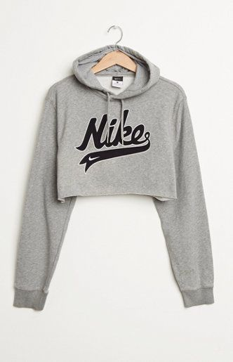 4280090f1ed Retro Gold Nike Cropped Hoodie at PacSun.com Crop tops are a must<3 ...