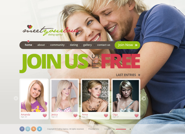 Meet Your Love Dating Agency HTML5 Template by Dynamic Template