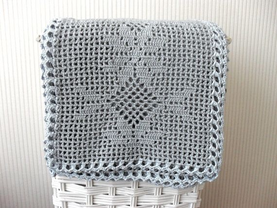 Pdf Crochet Blanket Pattern Romantic Gray Blanket Filet Crochet