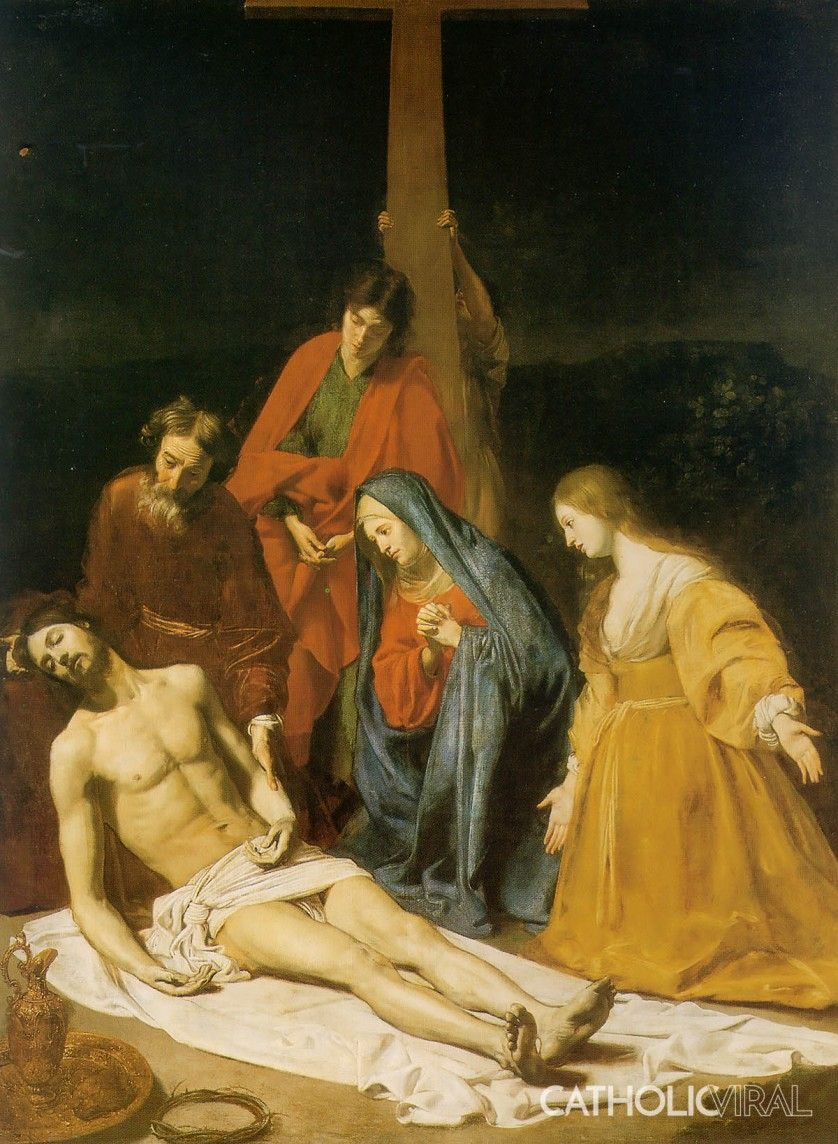 Jesus dying on the cross painting