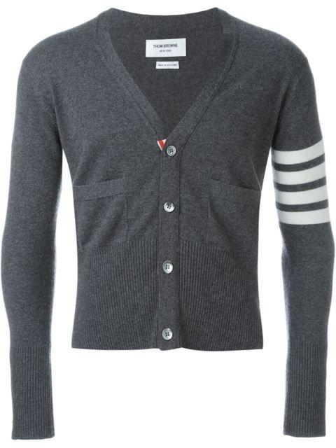THOM BROWNE Striped Sleeve Cardigan. #thombrowne #cloth #cardigan ...