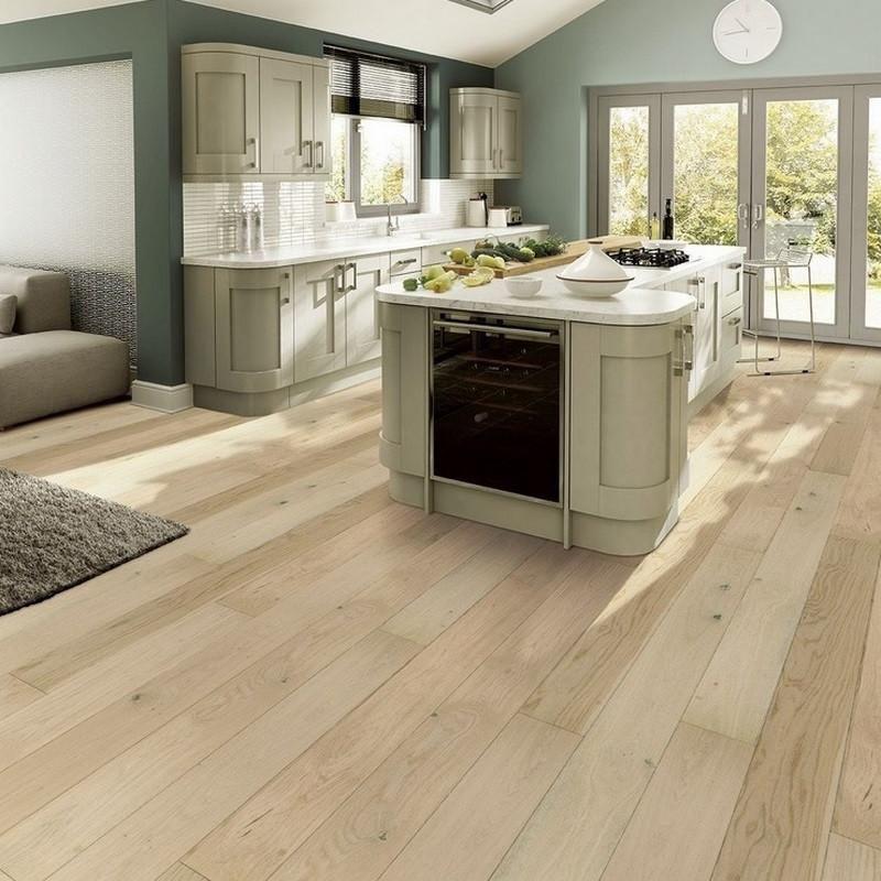 Tuscan Country Oak Bleached Engineered Wood Flooring In 2020 Engineered Wood Floors Wood Floor Kitchen Engineered Wood